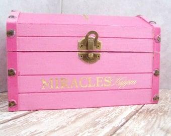 Pink Keepsake Box, Christian Jewelry Box, Pink Trinket Box, Keepsake Box, Jewelry Storage, Christian Decor, Pink Box, Pink and Gold
