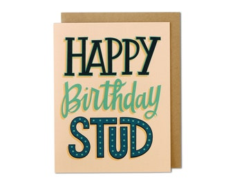 Birthday Card, Happy Birthday Card, Birthday Cards, Card Birthday, Cards Birthday, Birthday Card for Him, His Birthday