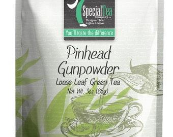 3 oz. Pinhead Gunpowder Loose Green Tea with Free Tea Infuser