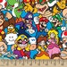 Nintendo Super Mario Packed 55829 Cotton Fabric by Springs Creative! [Choose Your Cut Size]