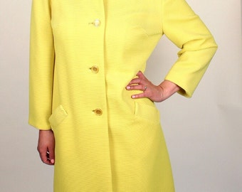BRIGHT Yellow 60s Mod Vintage Jacket