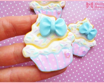 Sweet Cupcake Cookie Brooch by Dolly House