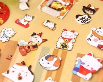 1 sheet Cute Japanese Lucky Money Cat 招き猫 Diary filofax planner Sticker