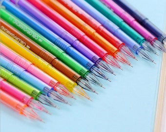 18pc 0.5mm Extra Fine point Assorted Color Diamond Shape Gel Roller Pens