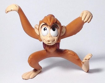 Vintage 1992 Disney's Aladdin Abu Monkey PVC toy Cake Topper