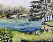 Landscape Painting, California Art, Original Oil, California Painting, Landscape Painting, Palette Knife Art, Beach Decor, Pacific Highway