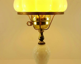 1960s Milk Glass Table Lamp