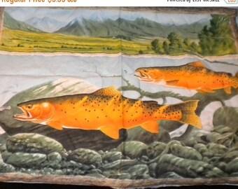 Large Gold Fish Panel, Large Gold Fish Wall Hanging, Large Gold Fish Pillow