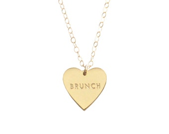 """My Heart Belongs To """"BRUNCH"""" Necklace - 1067"""