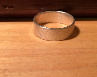 Leaf Vein Ring (made to order)