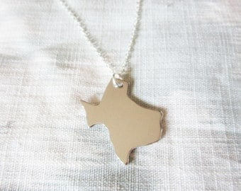 Texas Necklace - Custom Stamped Necklace