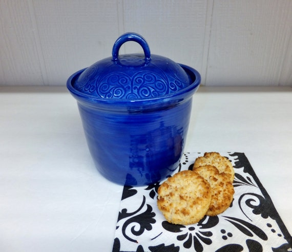 cobalt blue kitchen canisters cobalt blue ceramic canister handmade pottery jar 16744