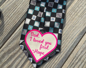 Father of the bride neck tie patch, father of the bride gift, wedding patch, wedding accesory, wedding, tie patch