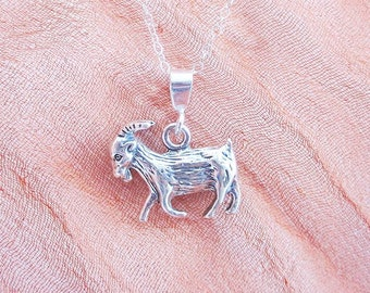 Goat Pendant Charm and Necklace