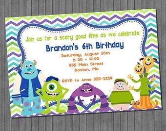 ON SALE 60% OFF Monster University Birthday Party Invitation -