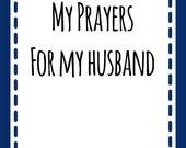 Prayer Scripture Cards for your Husband NAVY: Instant Digital Download