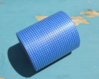 1 Roll of Extra Wide Washi Tape - 50mm - 8 yards - Blue and White Checkered Print - Scrapbooking Supplies By Hazals Bazaar