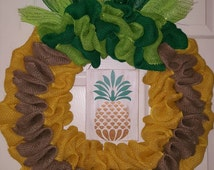 Unique Pineapple Wreath Related Items Etsy
