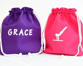 Personalised Gymnast Bag // Grip Bag // Personalised with your choice of name // Gymnastics // Gift for a Gymnast // Gym Bag