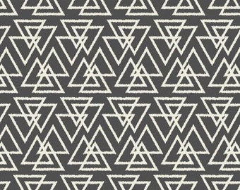 Crib Skirt Charcoal Trilogy Triangles. Baby Bedding. Crib Bedding. Crib Skirt Boy. Baby Boy Nursery. Triangle Crib Skirt. Gray Crib Skirt.