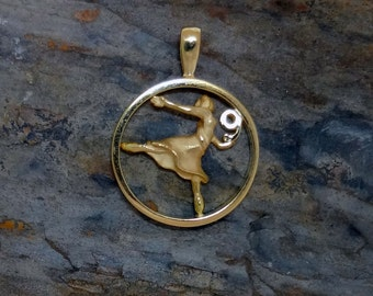 Nine Ladies Dancing Christmas Charm - Handmade in 14k Gold or Sterling Silver