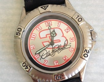 Rare Dale Earnhardt Signed #3 Nascar Watch Lot