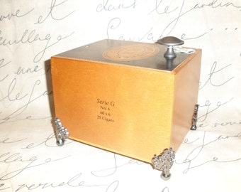 Sliding Lid Cigar Box Valet, Man Box, Watch Box, Stash box, Gun Box, Jewelry Box, SLR,  Guy Gift- Must See!