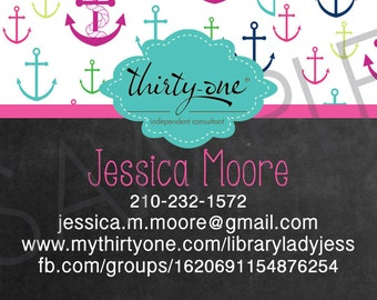 Business Card Bundle made for Thirty-One Gifts - First Mate Inspired