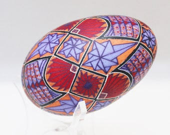 Fans and Stars, Pysanky, Ukrainian Easter Egg, Batik