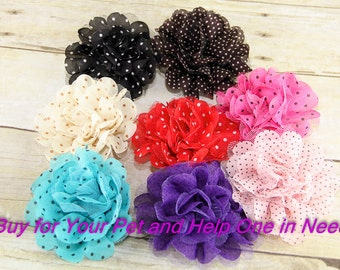 Polka Dots & Lace Dog Collar Flower, Attachment, (Collar not included), Flower for Dog Collar, Dog Accessory