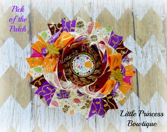 Pick of the Patch, Fall Hair Bows, Fall Hairbows, Fall Bows, Fall