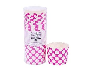 SALE!! - Hot Pink Polka Dot Standard Baking Cups  (20 Count)