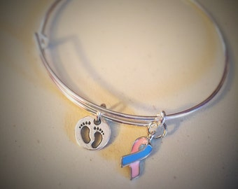 Infertility, Pregnancy Loss, Infant Loss Charm Bangle