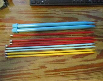 Five Sets of Plastic Knitting Needles