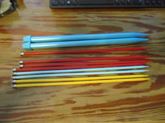 Five Sets of Plastic Knitting Needles