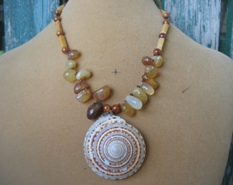 Agate Shell Choker Necklace
