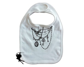 GOTHIC NECKLACE Baby Bib Interlock