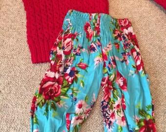 Handmade Knit Jumper and Harem Pants
