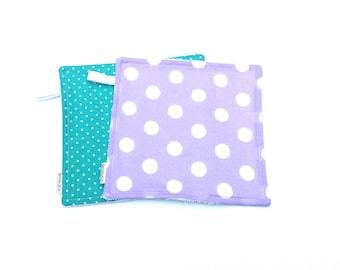 Polka Dot Wash Cloth - Girls Wash Cloth Set - Baby bath Set - Wash Cloth Set