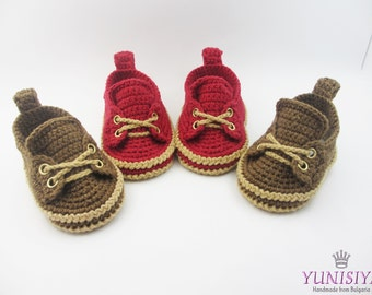 Crochet baby loafers, Crochet Baby Booties, Baby Booties, Crochet Baby Shoes ,sizes 0 - 6 months, baby boy moccasins, girl loafers BB119