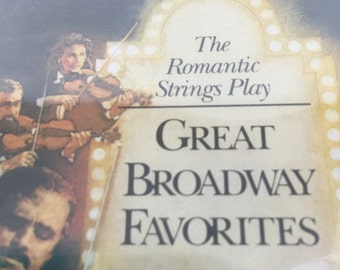 The Romantic Strings Play Great Broadway Favorites - Vintage Music Audio Cassette Tape 1993 Readers Digest KRS-015/A1 Sealed UnOpened