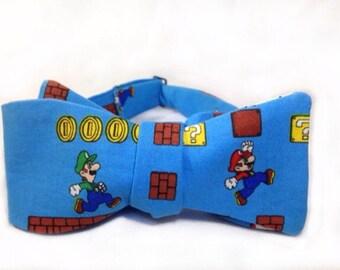 Mario Inspired Self Tie Freestyle Nintendo Inspired Bow Tie