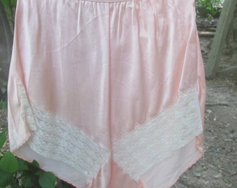 30's or 40's satin lacy tap pants small/medium burlesque