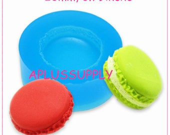 GYL147 Free Shipping Macaron Mold Silicone Mold Kawaii Deco Sweets Miniature Food Mold Fimo Polymer Clay Jewelry Charms DIY Cabochon Mold