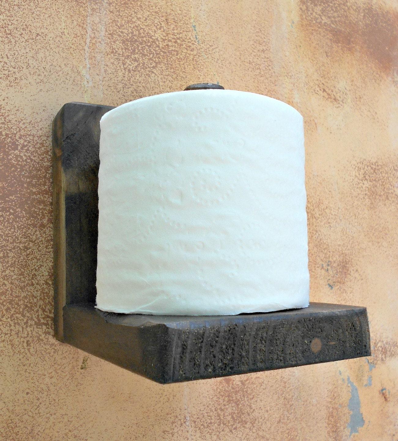 Toilet Paper Holder Rustic Wood Tissue Paper Holder