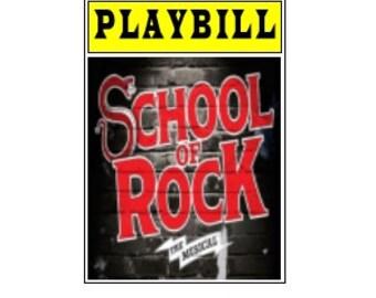 Theater / Show Charm - Playbill  - School of Rock