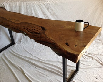 Live Edge Table Live Edge Console Table Wood Slab Table