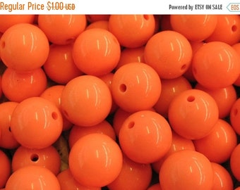 15% OFF Orange Resin Beads - 12 pieces - Item 50020