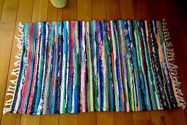 Sale rag rug boho chic hippie rugs colorful cotton by for Colorful rugs for sale