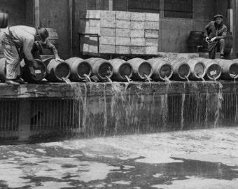 Barrels of Confiscated Liquor Barrels, United States -Prohibition Era -New York City Photo Print